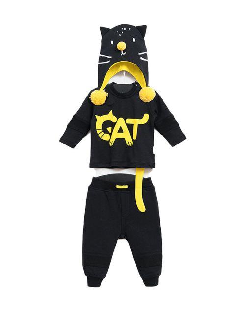 "Kompletić ""Cat Cat"" (Crno/Žuto)"