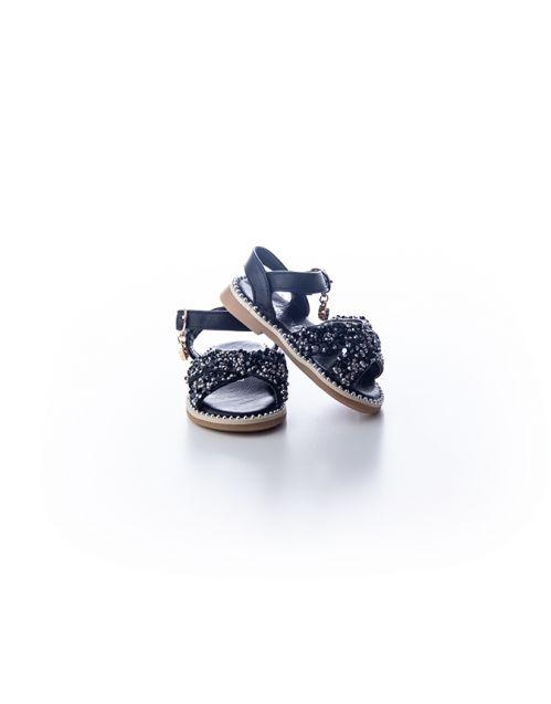 Sandalice-šljokice crne
