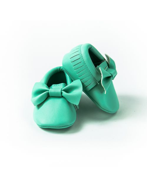 Mokasinice Bebica damica (svetlo zelene)